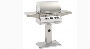 Fire Magic Aurora Series A430s Pedestal Post Stainless Grill at Georgetown Fireplace and Patio